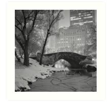 Cracked Lake Under Gapstow Bridge Art Print