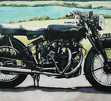 Vincent Black Shadow by samcannonart