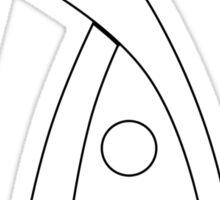 Deus Ex logo white Sticker