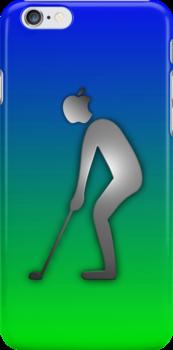 "GOLF iphone golfer ""Appleman"" by ALIANATOR"