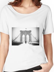 Man on Brooklyn Bridge Women's Relaxed Fit T-Shirt
