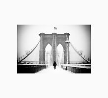 Man on Brooklyn Bridge Unisex T-Shirt