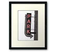 Neon Park Framed Print