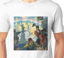 Immigrants and The Statue of Liberty Artwork Unisex T-Shirt