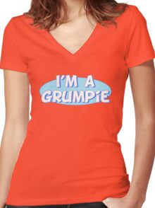 I'm a Grumpie Women's Fitted V-Neck T-Shirt
