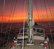YACHT RED BOOMER II SUNSET by springs