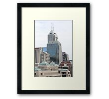 Indy Buildings Framed Print