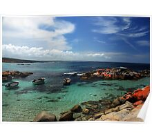 Moored at the Bay of Fires Poster