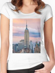Empire State Cotton Candy Women's Fitted Scoop T-Shirt