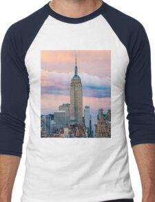 Empire State Cotton Candy Men's Baseball ¾ T-Shirt
