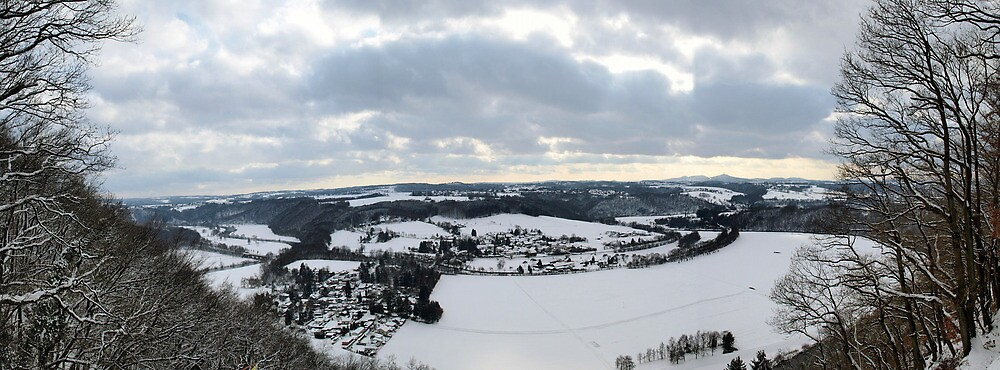 A view down the Sieg Valley by Benedikt Amrhein
