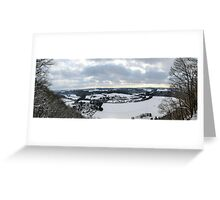 A view down the Sieg Valley Greeting Card