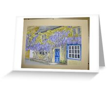 wisteria cottage in Broadway Greeting Card