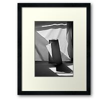 Composition with Paper Towels and Sunlight Framed Print