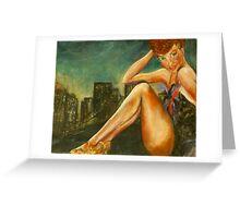 city girl Greeting Card