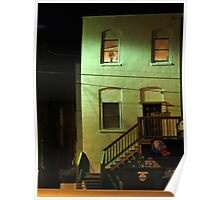 Night Alley And Building Poster