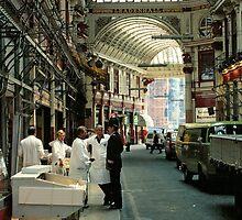 Leadenhall Market London, UK, 1970's. by David A. L. Davies