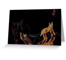 Wolf Tracks Greeting Card