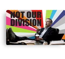 Sherlock - Not our division Canvas Print