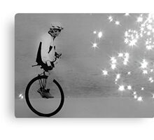 Unicycle Rider on the verge of fascination and discovery Canvas Print