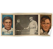 Benjamin K Edwards Collection J T Meyers C Mathewson New York Giants baseball card portrait Poster