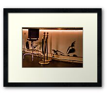 Velvet Rope & Stool Framed Print