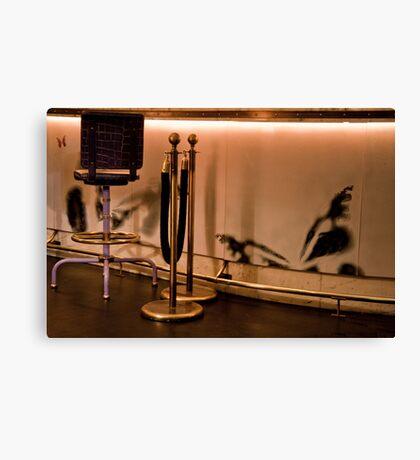 Velvet Rope & Stool Canvas Print