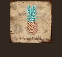 Pineapple, Ananas Comosus Vintage Botanicals collection Womens Fitted T-Shirt