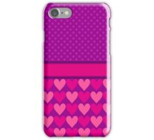 Purple and Pink Mod Hearts with Polka Dots  iPhone Case/Skin