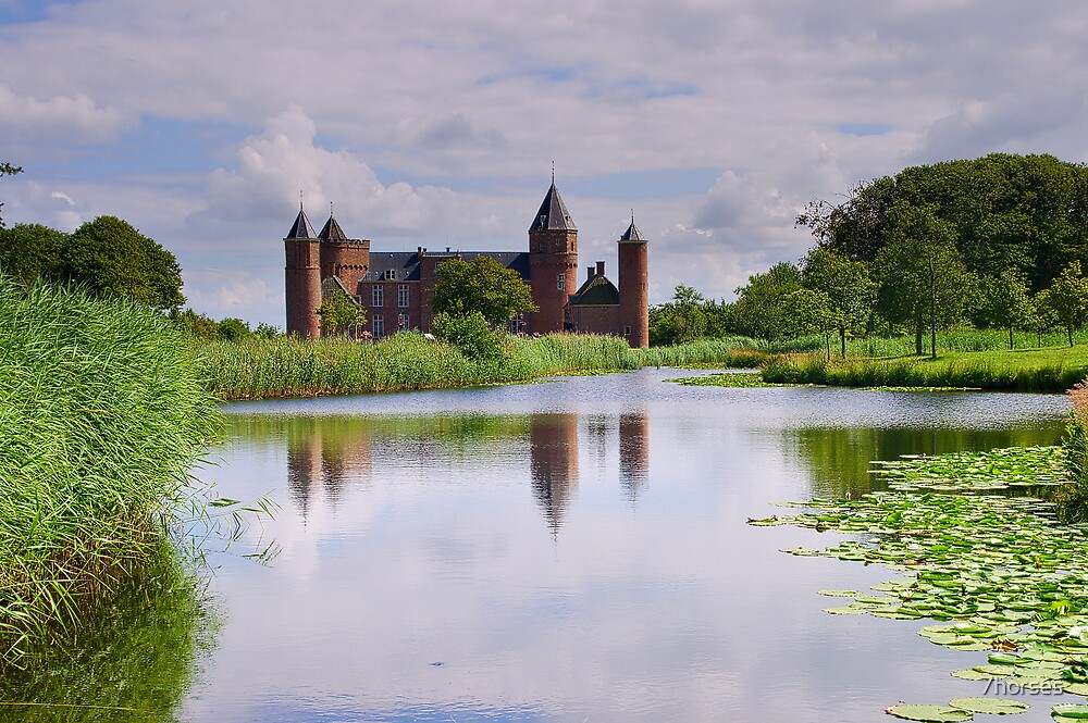 Old Dutch Castle in Domburg, Holland by 7horses
