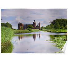 Old Dutch Castle in Domburg, Holland Poster