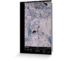 USGS Topo Map Washington State WA East Olympia 20110405 TM Inverted Greeting Card
