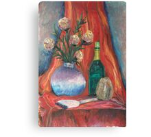 Flowers,wine and passion Canvas Print