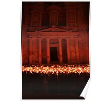 Petra by Night Poster