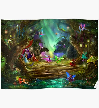 The Dancing Auroras Poster
