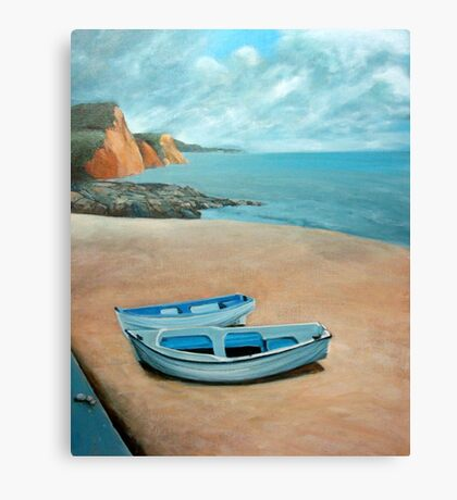 Mevagissey beach Canvas Print