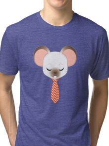 Fancy Mouse - Seal Point Tri-blend T-Shirt