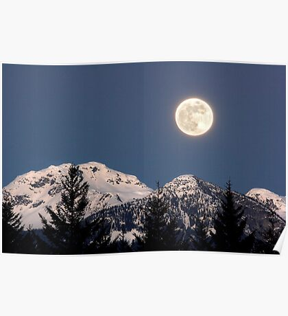 Moon Glow, Whistler Poster