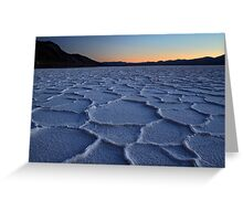 Bad water in Death valley National park Greeting Card