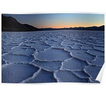 Bad water in Death valley National park Poster
