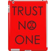 Trust No One (2) iPad Case/Skin