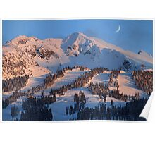 Blackcomb mountain at sunset Poster