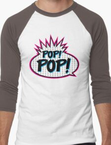 Pop! Pop! Men's Baseball ¾ T-Shirt