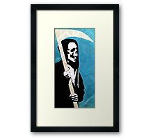 Reaper in the Pages Framed Print
