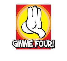 Gimme Four Photographic Print