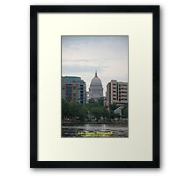Madison Wisconsin the Capitol Building Framed Print