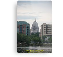 Madison Wisconsin the Capitol Building Metal Print