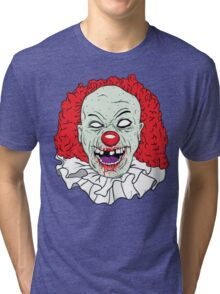 Zombie clown Tri-blend T-Shirt