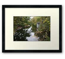 Oconomowoc Riverscape Framed Print