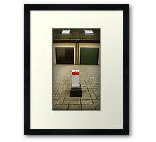Suburbian robot Framed Print